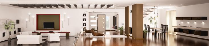 Luxuriöses Apartment mit Staubsauger reinigen
