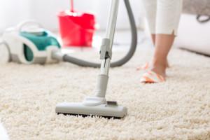 Teppich saugen